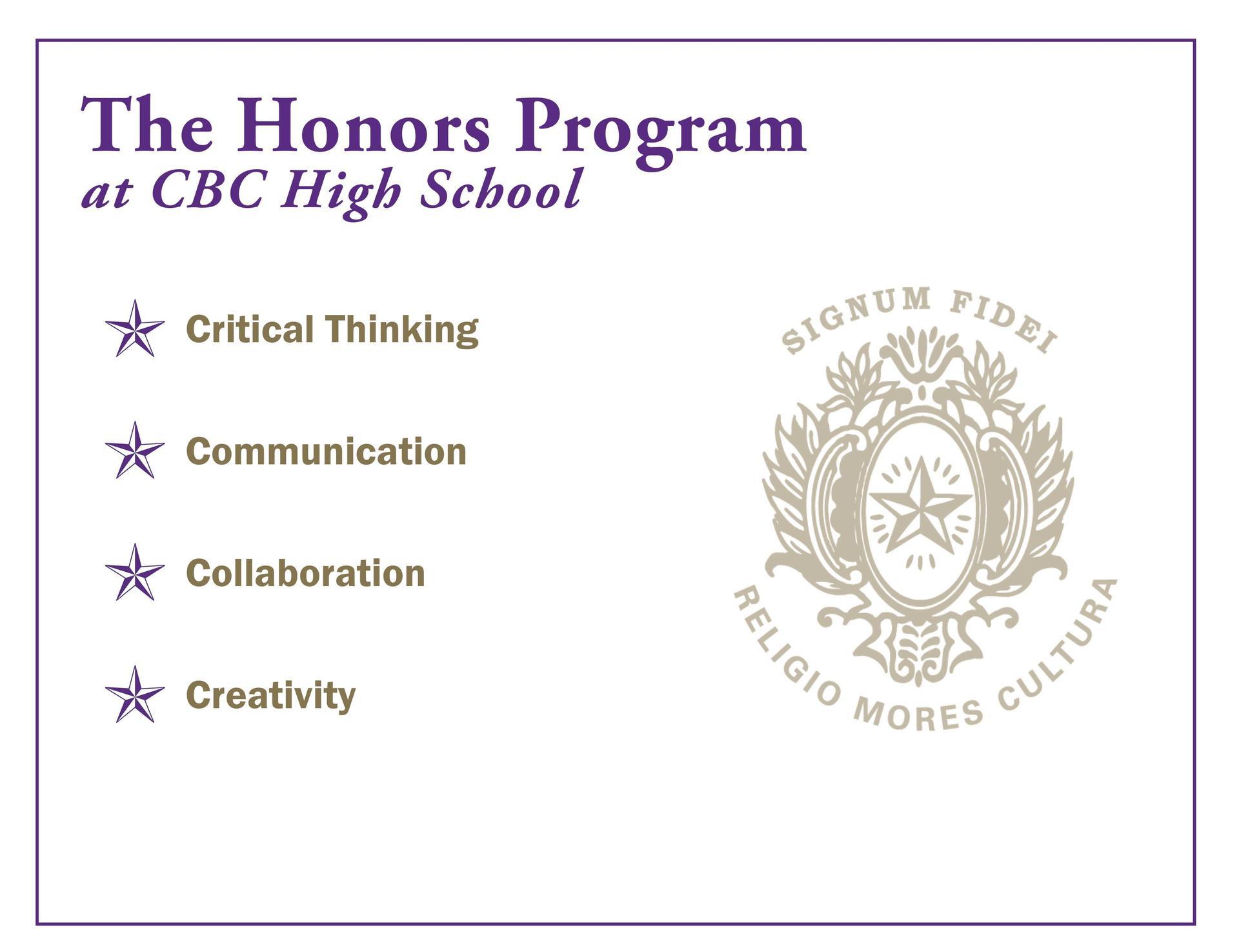 Honors Program information