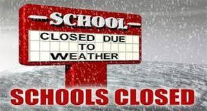 schools closed due to bad weather