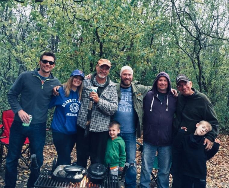 Camping with my family