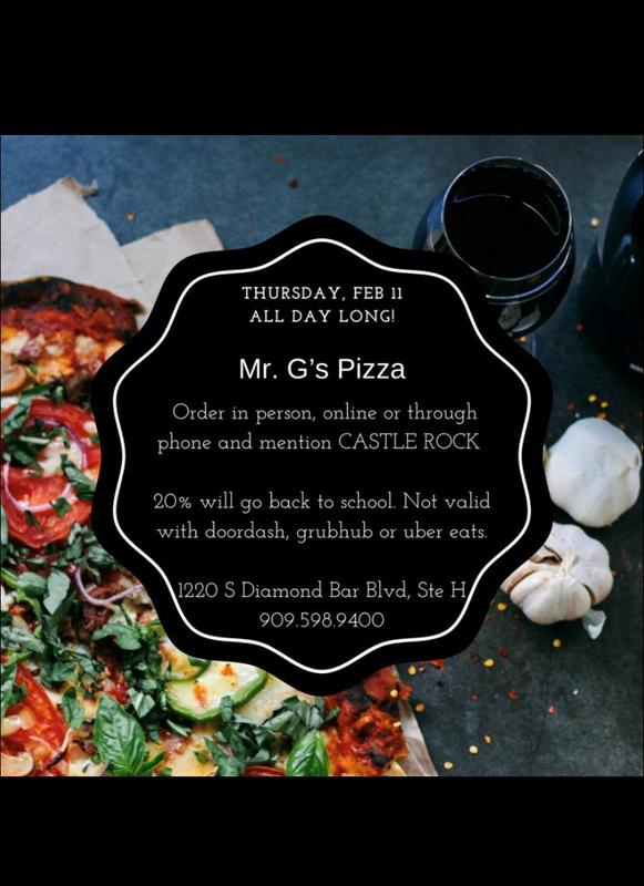 Mr. G's Pizza School Fundraiser, All day February 11th Featured Photo