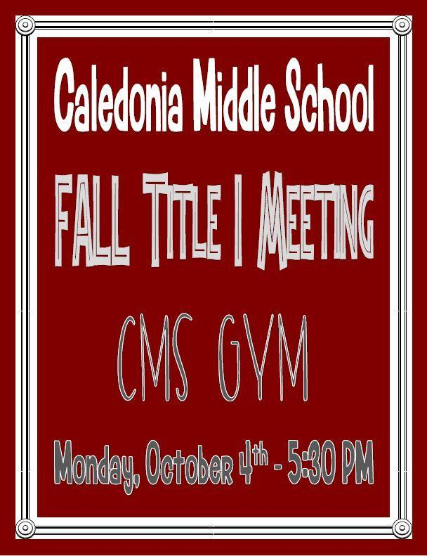 CMS Fall Title I Meeting 2021