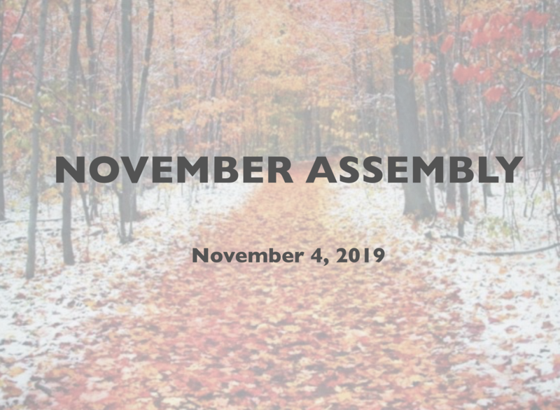 Condor November Assembly Featured Photo