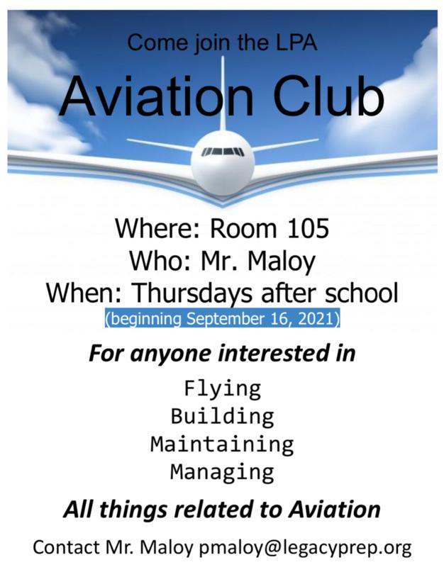 aviation poster LPA best charter school in davis county