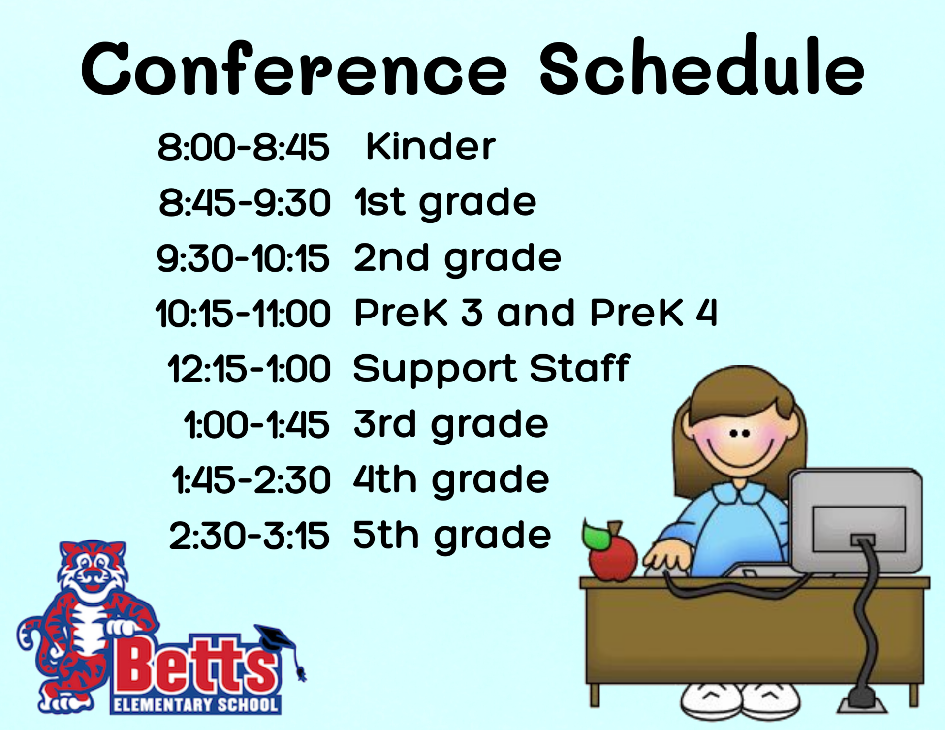 Image of Betts Conference schedule