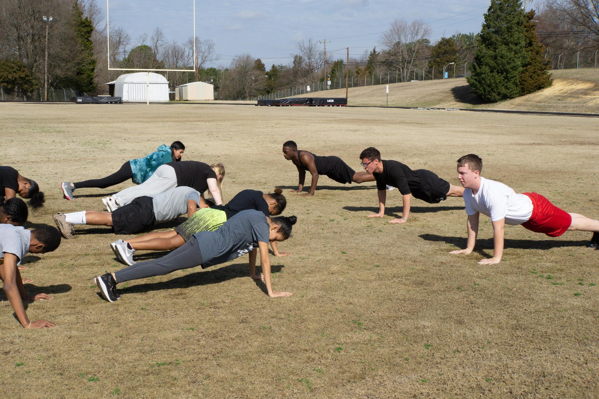 Bulldog JROTC Physical Training Push Ups
