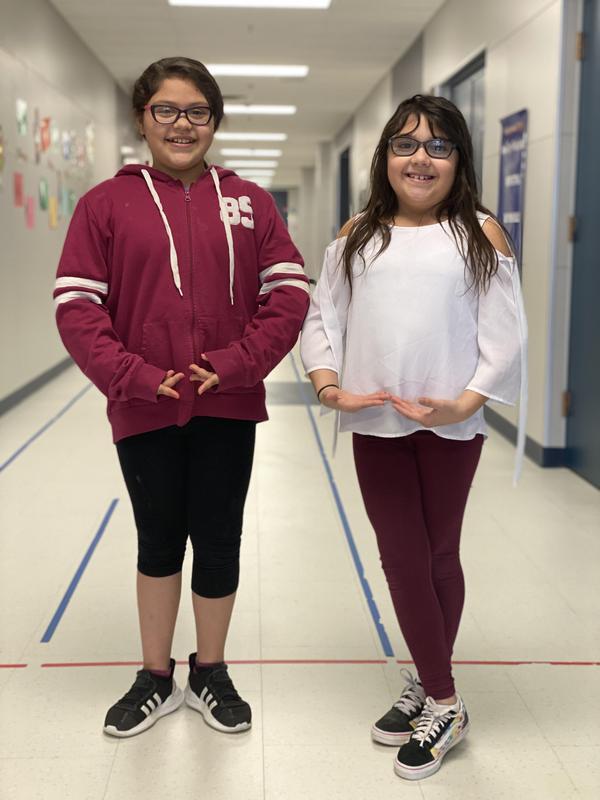 mercedes and layla take part in the ballet lubbock communities in schools program