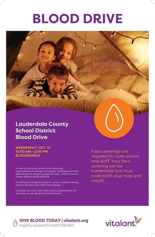 LCSD Blood Drive Flyer