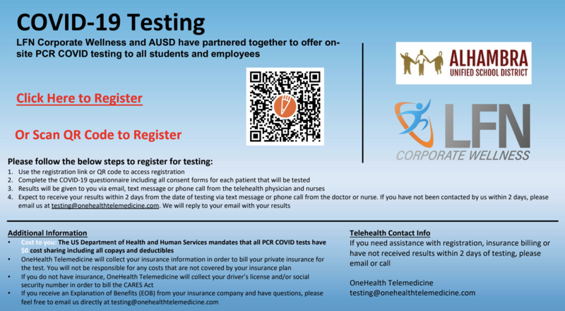 COVID Testing at Park School Featured Photo