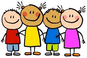 Photo of clipart showing kindergarten students.