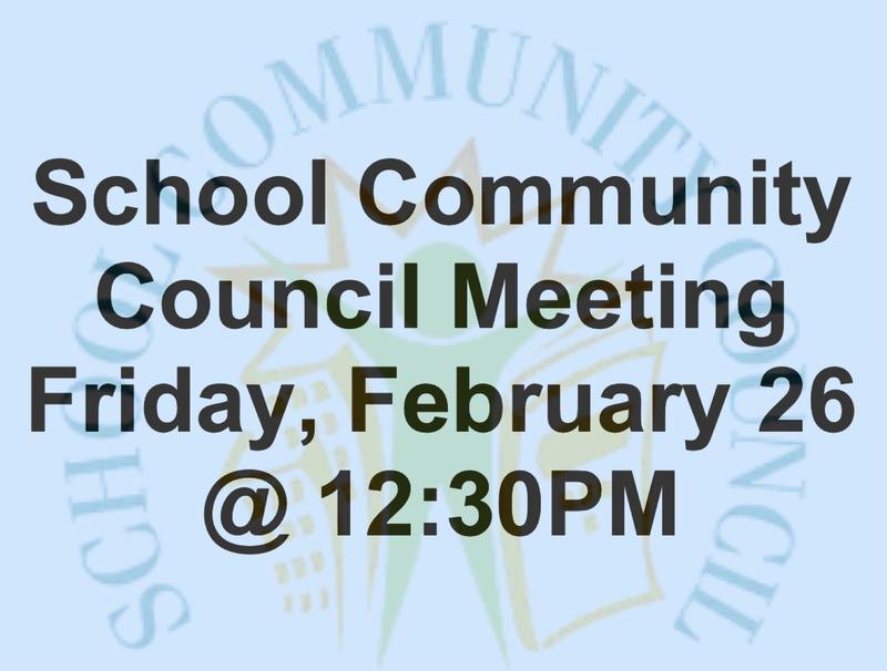 February 26 HIS School Community Council Meeting Featured Photo