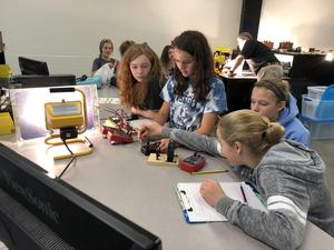 Students check out an alternative energy lab at WMU.