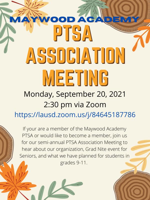 English Flyer for PTSA