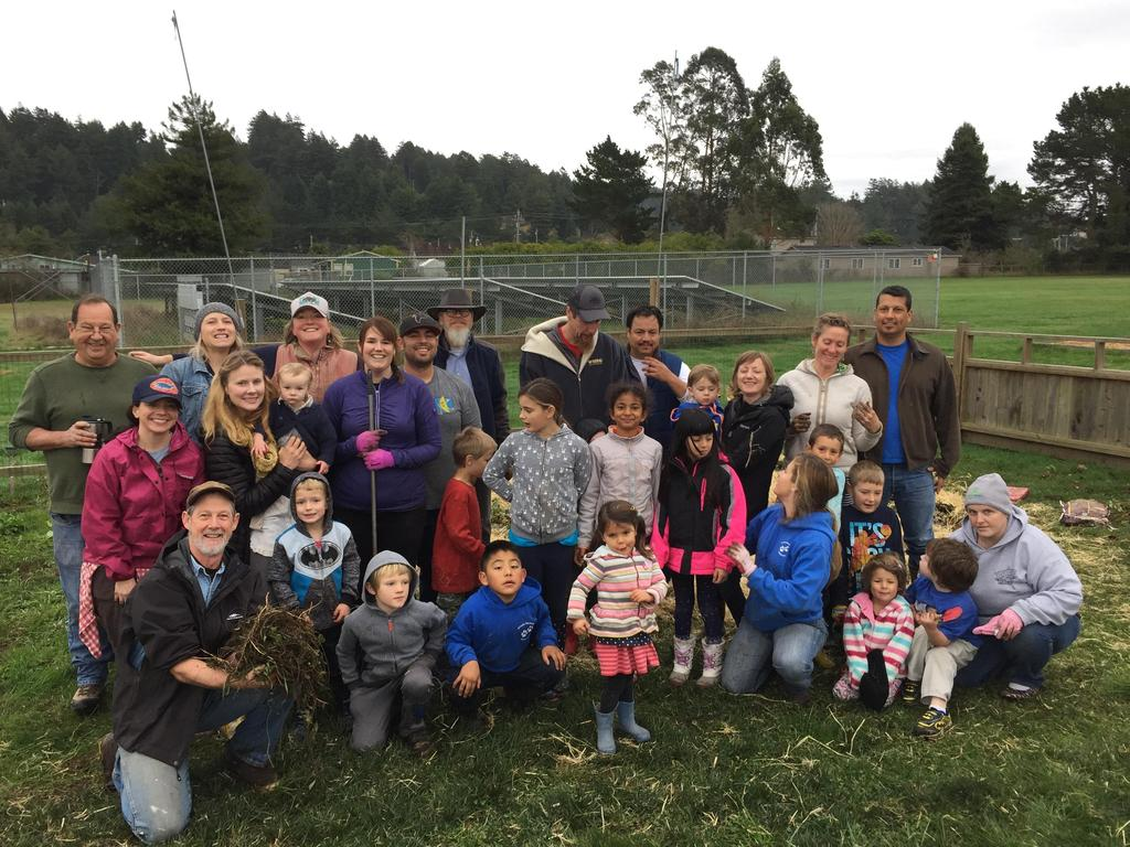 Group photo of volunteers for garden clean-up day