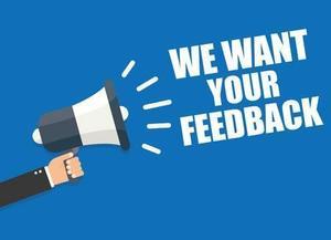 bull horn saying feedback