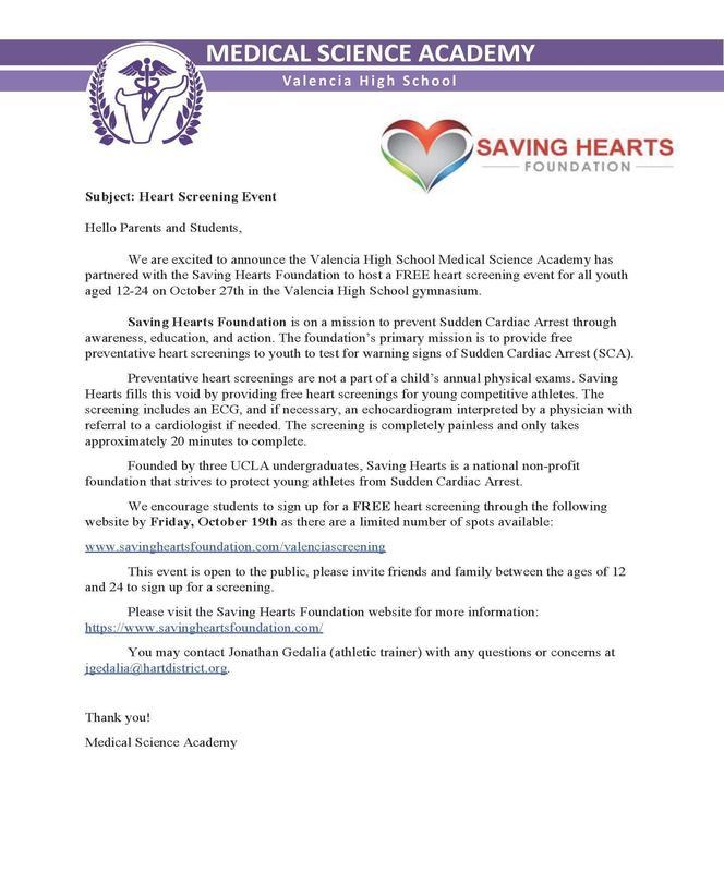 Heart Health Screening Info