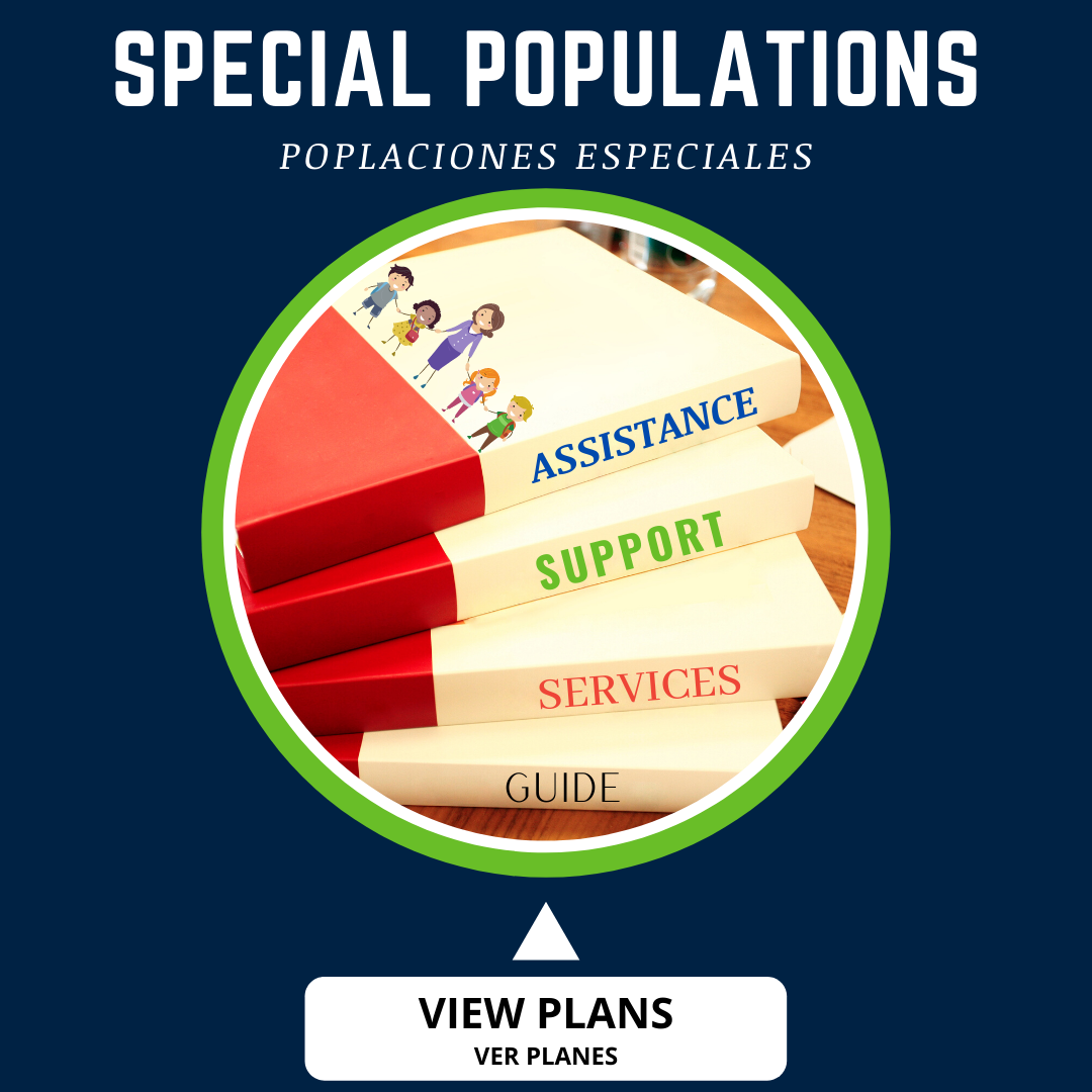 button for special populations plan