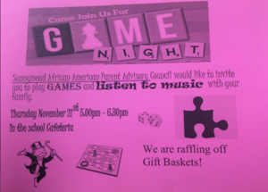 Game Night information