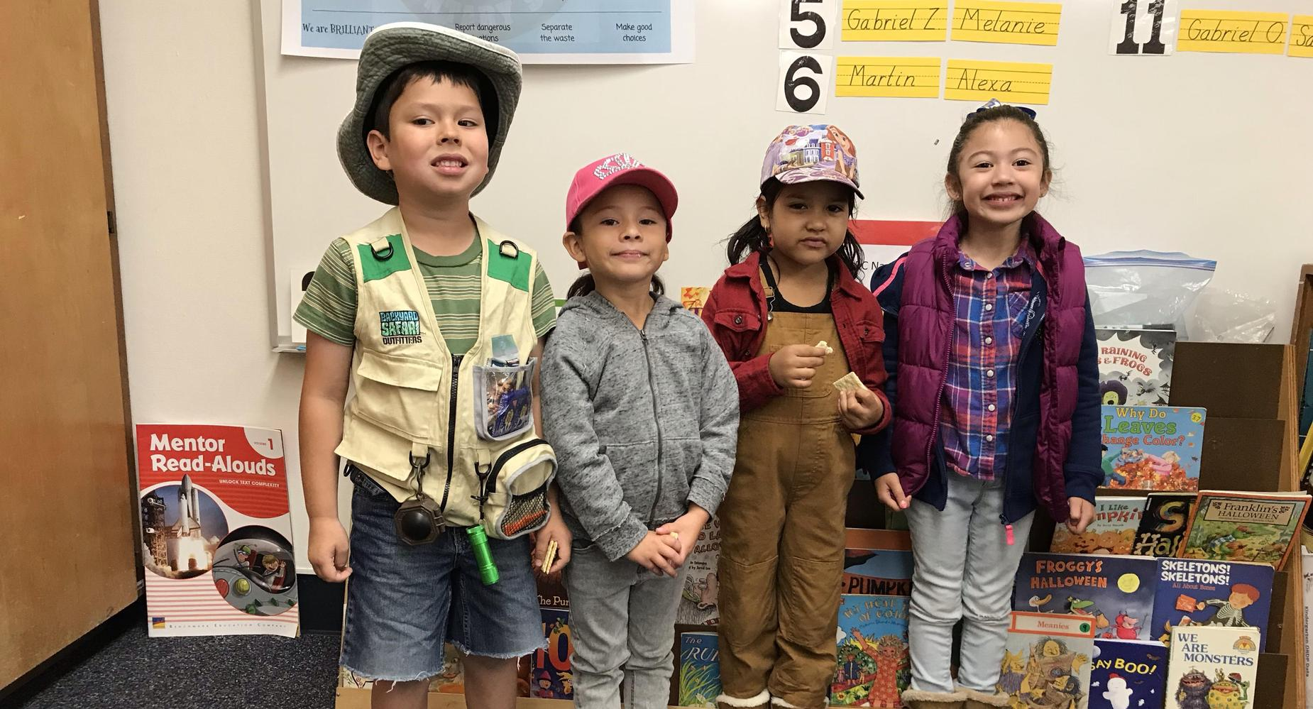 Students dressed up for Safari Day.