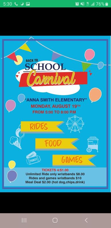 Carnival on 8.19 at 5:00 to 8:00