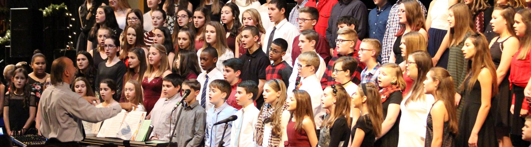 Gananda Middle School 7th and 8th Grade Chorus at the Holiday Concert 2018