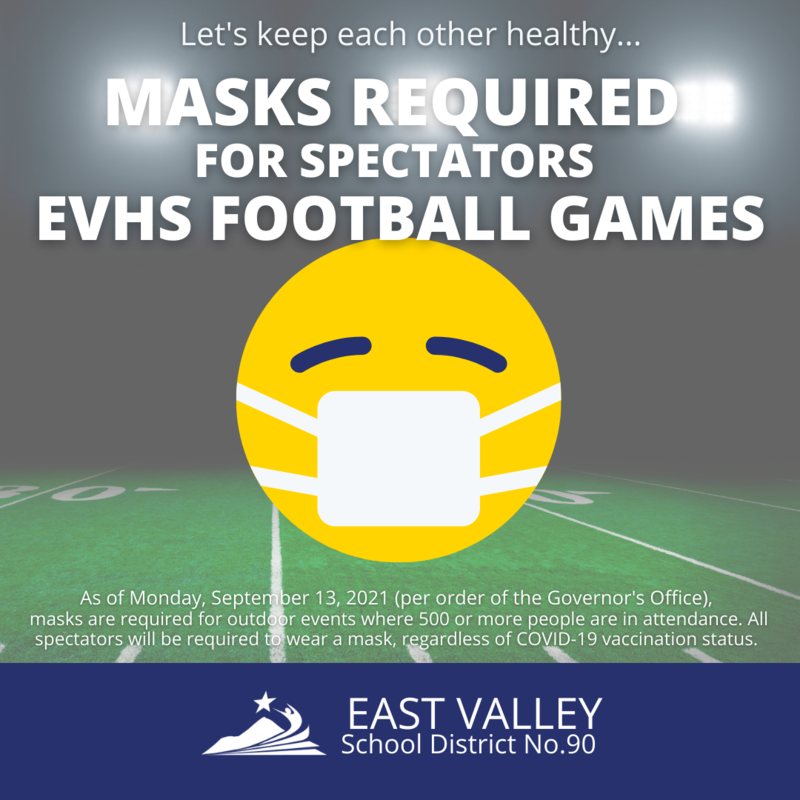 Masking Requirements for EVHS Football games