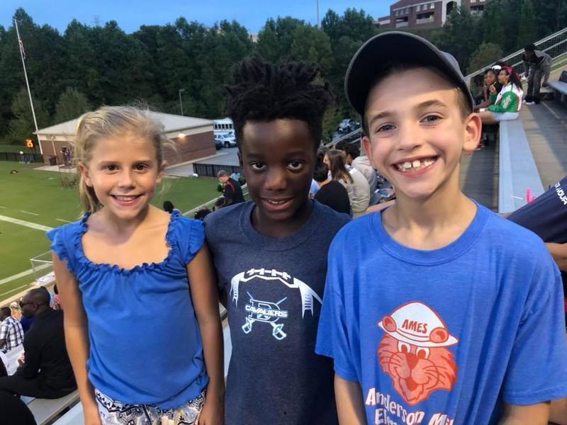 photo of three children