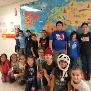 Mrs. Chapa's class winners of contest.