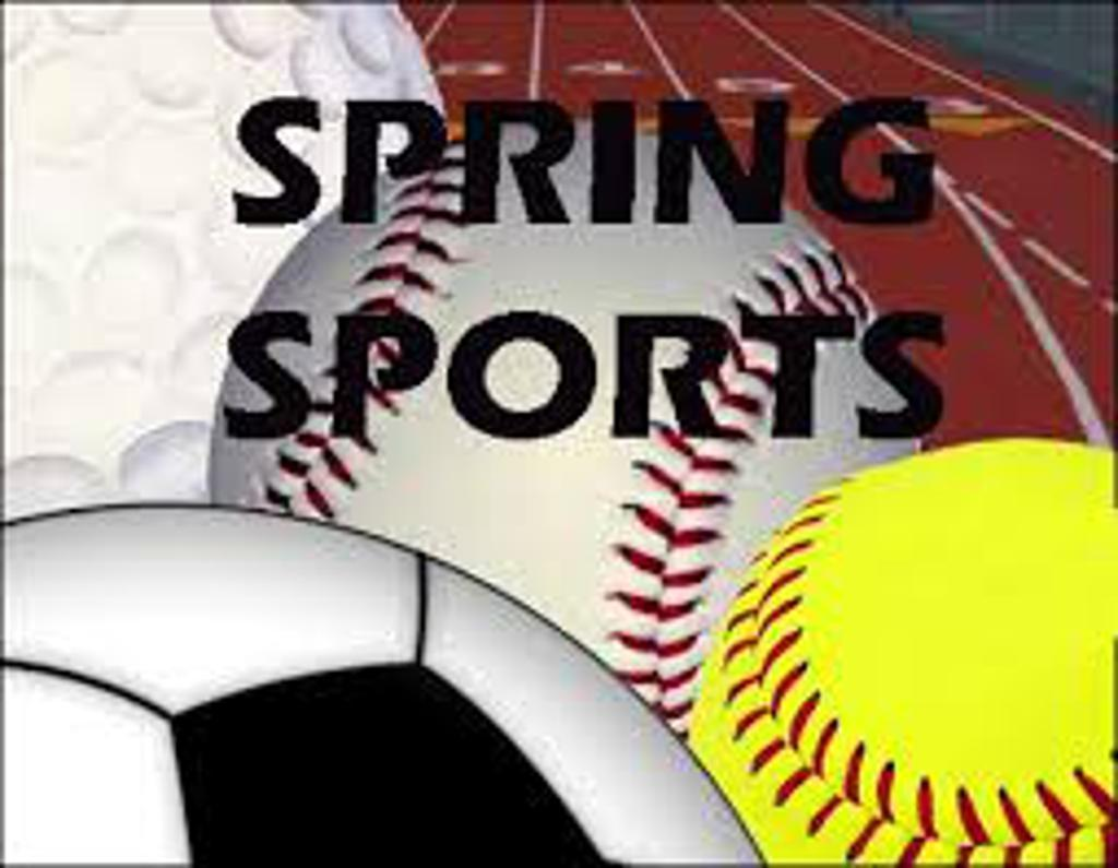 spring sports collage