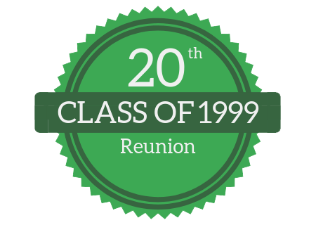 Updated Information on the Class of 1999 Reunion Featured Photo