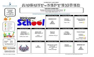 August & September Lunch Menu pg 1