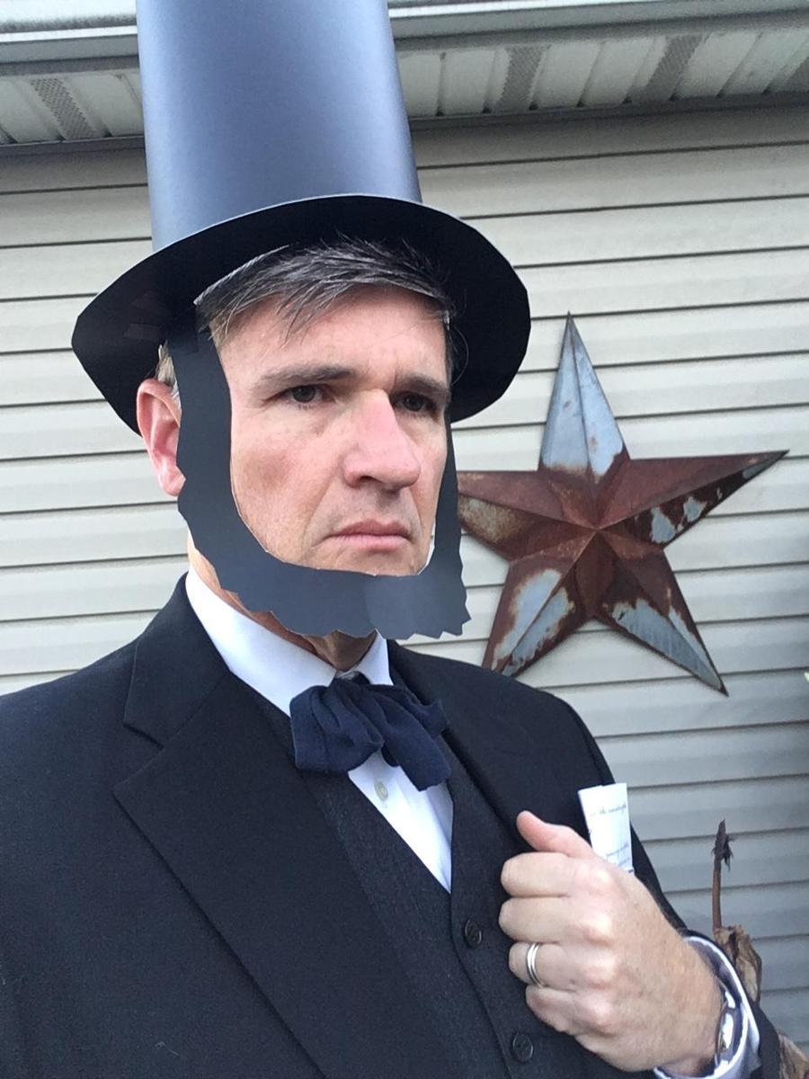 mr. brennan dressed as abraham lincoln