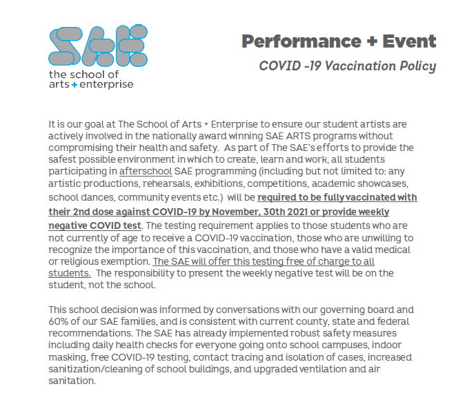 COVID - 19 Event Vaccination Policy Featured Photo