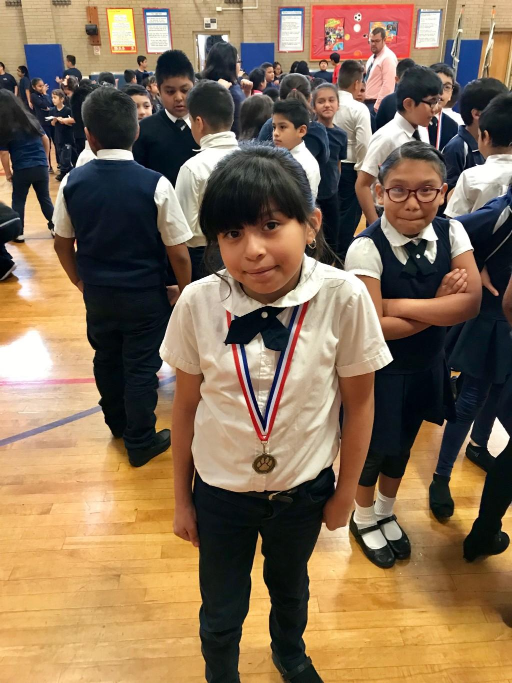 Student wins medal