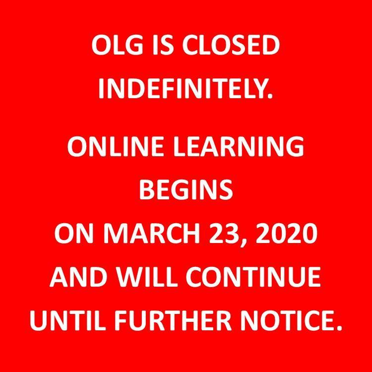 Online Learning begins Monday, March 23rd. Thumbnail Image