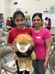 Krina Patel, essay winner, and mom.