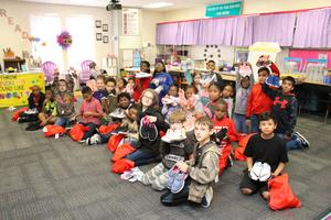 Students Receive New Shoes Thanks to Pen Pals, Staff and Community Members