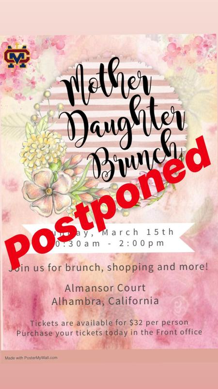 Mother-Daughter Brunch Postponed Thumbnail Image