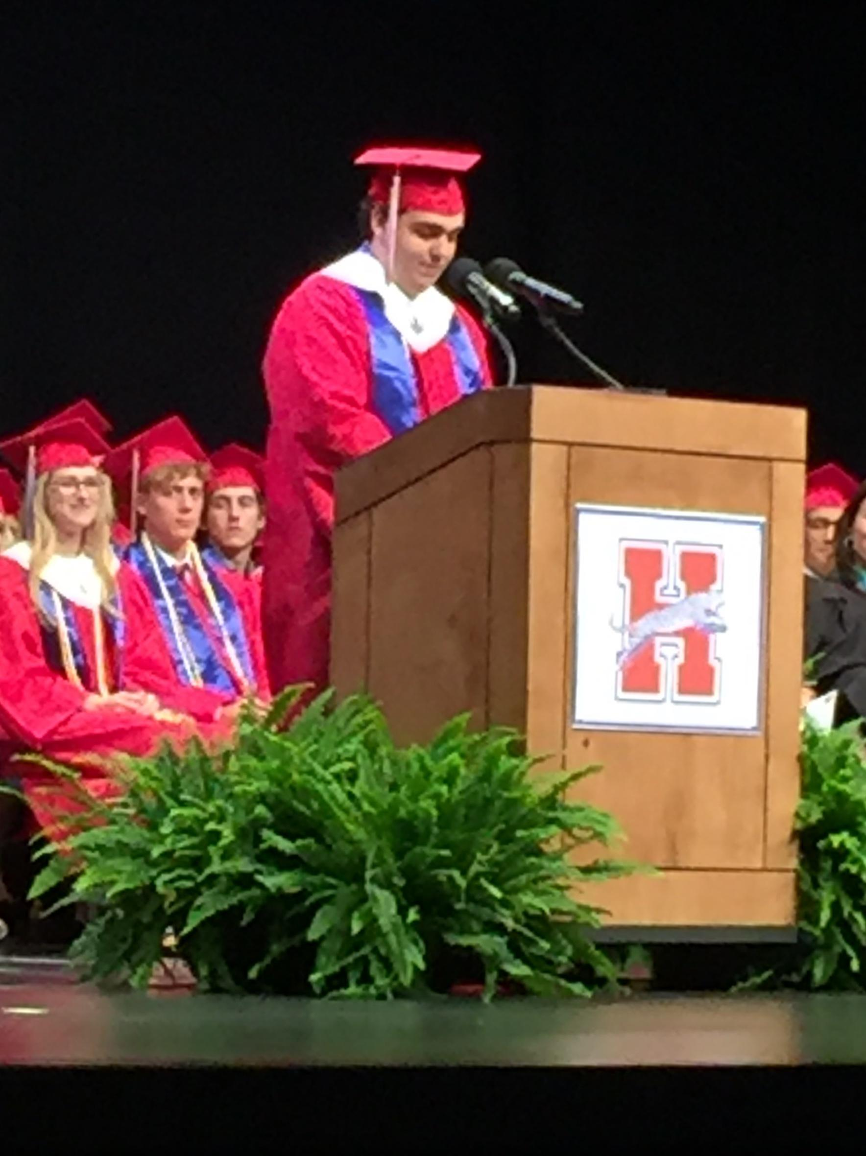 Hunter's Graduation Speech... 2018