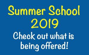 Summer School 2019. Check out what is being offered!