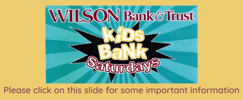 Wilson Bank Saturday Image