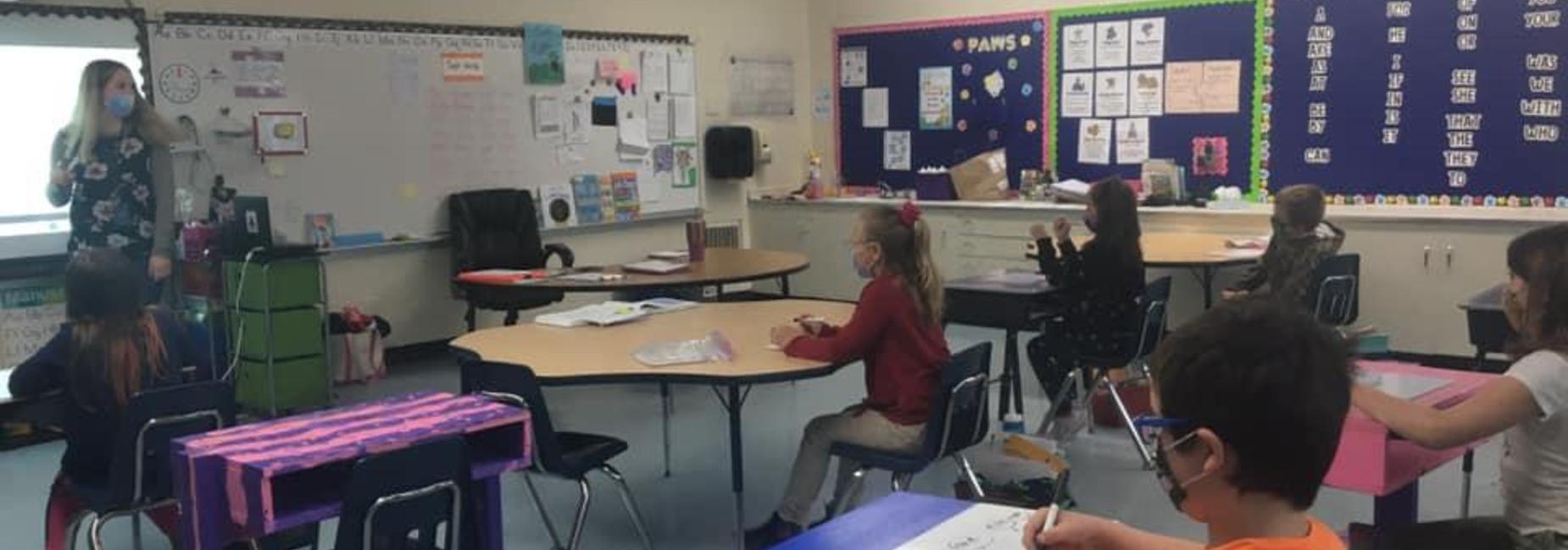 students do classwork