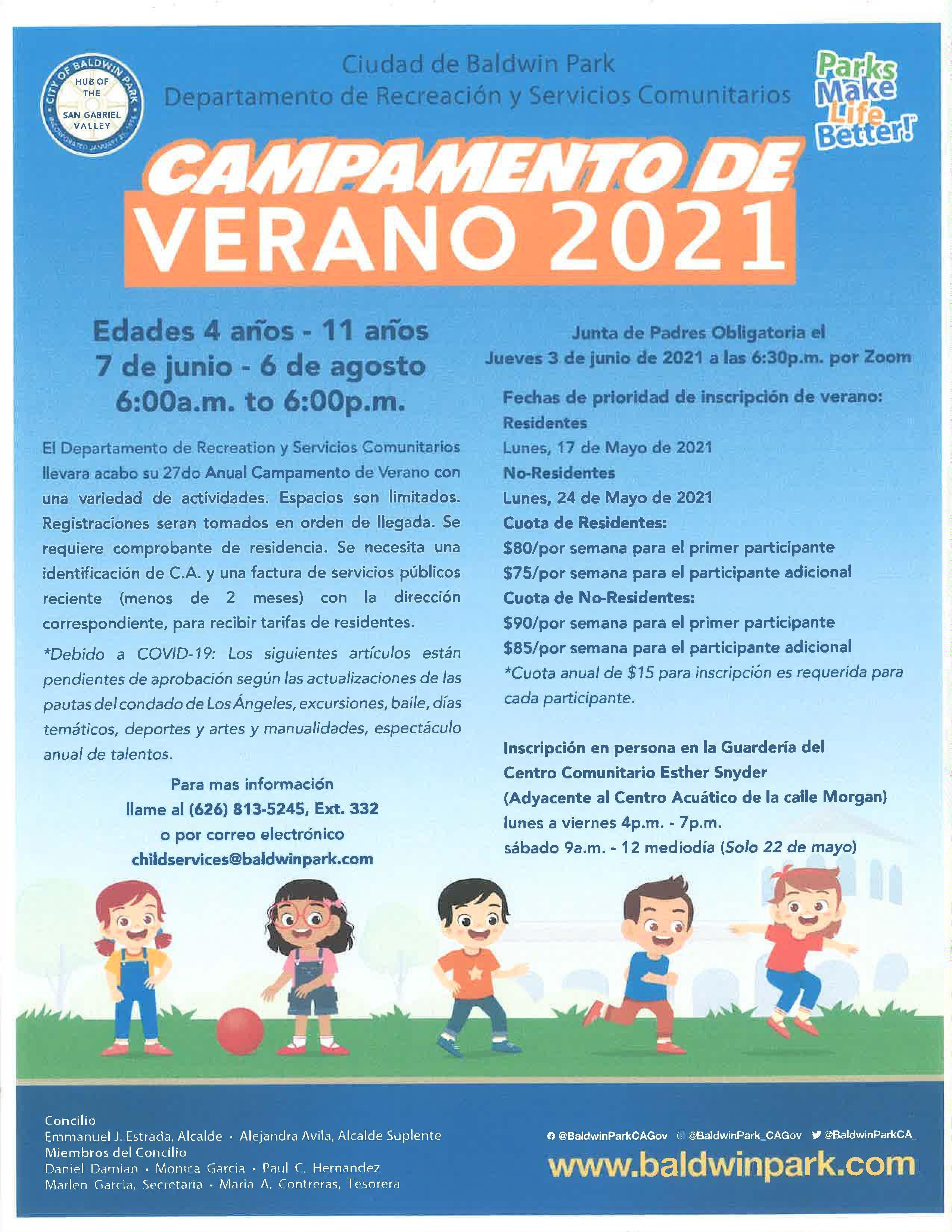 Summer Camp 2021 SPA