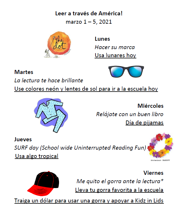 Dress up days-Spanish