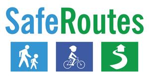 Image that reads safe routes