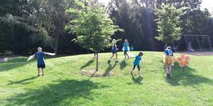Students on RSSAA Playground