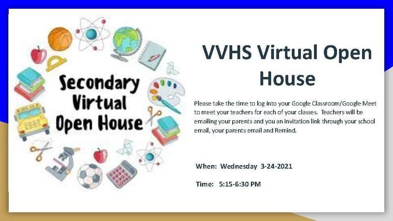 VVHS Virtual Open House 3-24-2021 Thumbnail Image