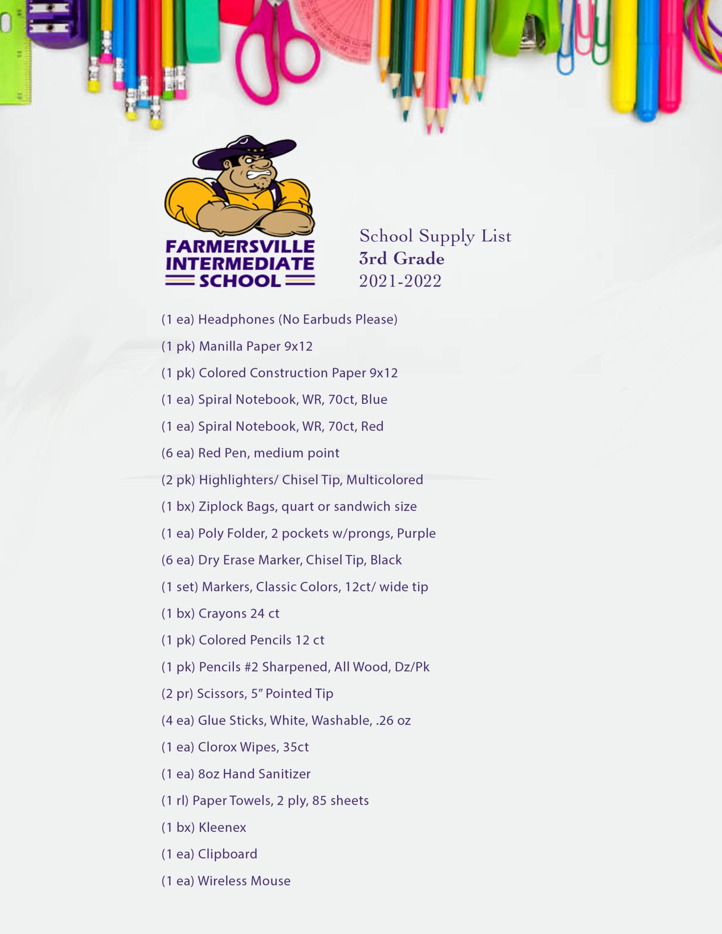 3rd Grade List