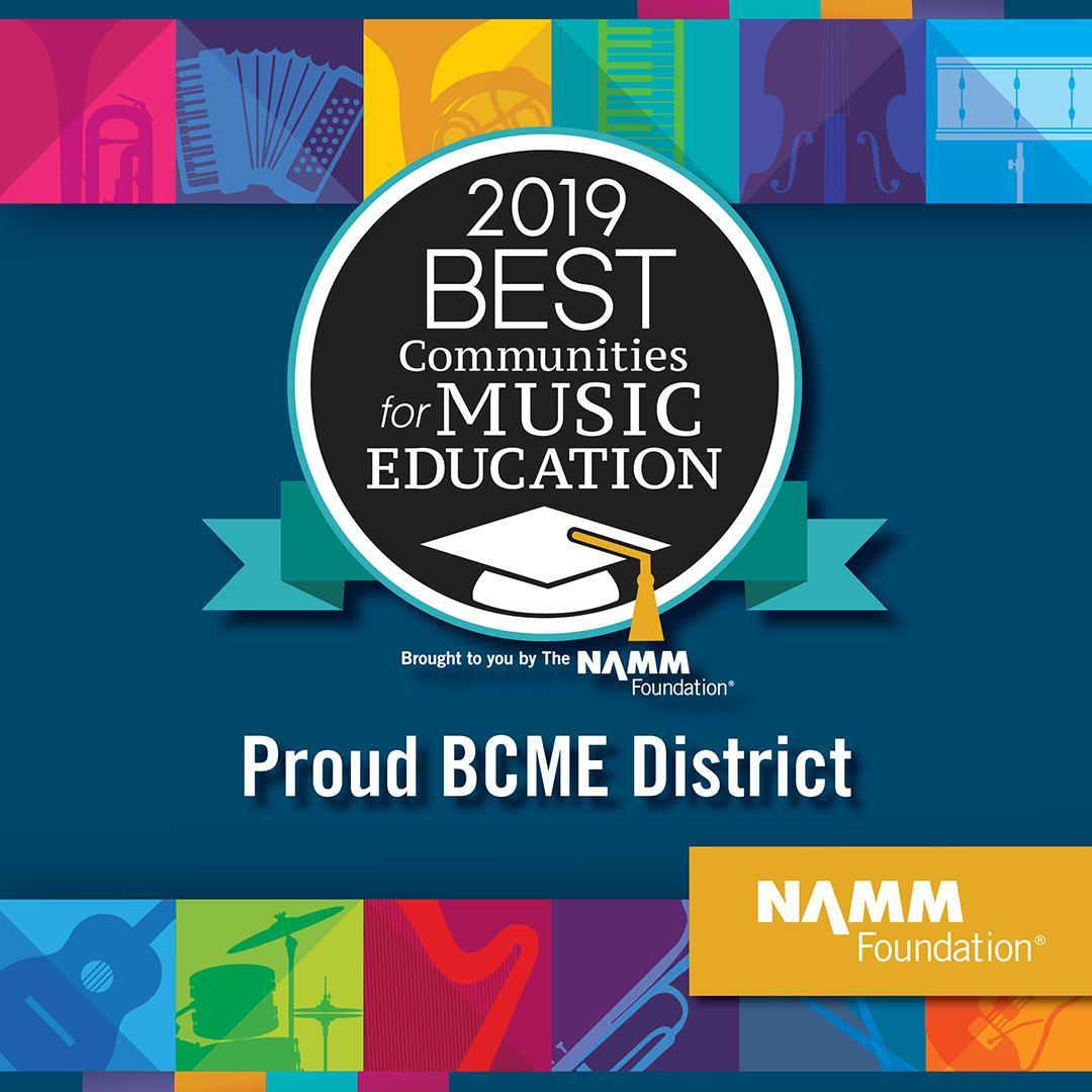 SGUSD is a proud NAMM 'Best Community for Music Education' District!