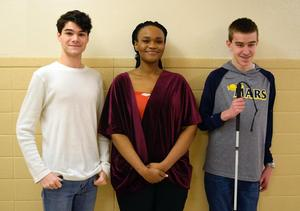 Mars Area High School students Ethan Skinner, Hilary Biaku and Griffin Miller were selected to perform at the PMEA Region Chorus Festival.