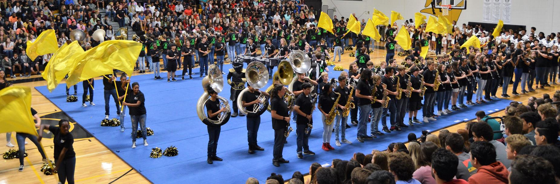 band at pep rally